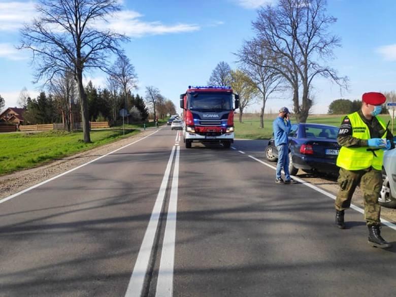 Dobrzyniewo Duże. Wypadek na DK 65. Zderzenie trzech aut. Droga była zablokowana [ZDJĘCIA]