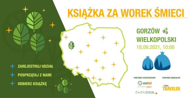 """Gorzów znalazł się na mapie tegorocznej edycji akcji """"Książka za worek śmieci""""."""