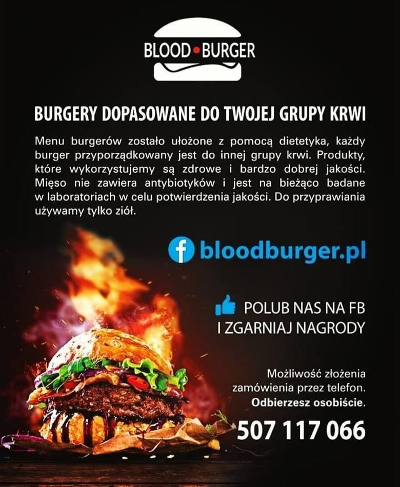 Burgery dopasowane do twojej grupy krwi.