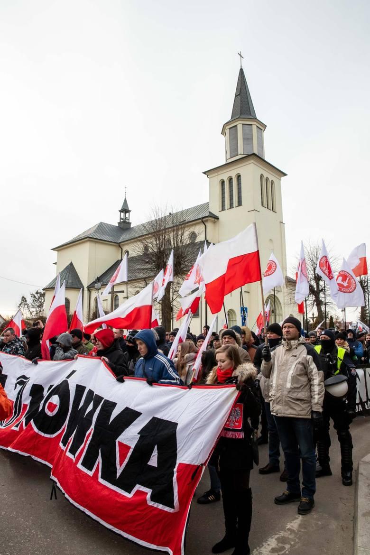 2019-02-23 hajnowka marsz zolnierzy wykletych fot. wojciech wojtkielewicz/kurier poranny gazeta wspolczesna / polska press
