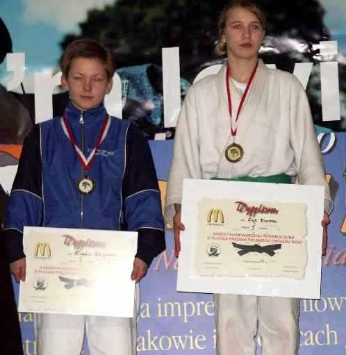 Dagmara Tronina (z lewej) zdobyła w Bytomiu tytuł wicemistrzowski.