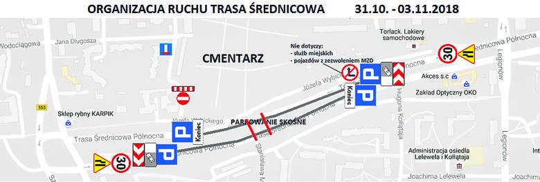 """Uwaga, kierowcy! """"Nowości"""" podpowiadają, jak 1 listopada dojechać w pobliże toruńskich nekropolii"""