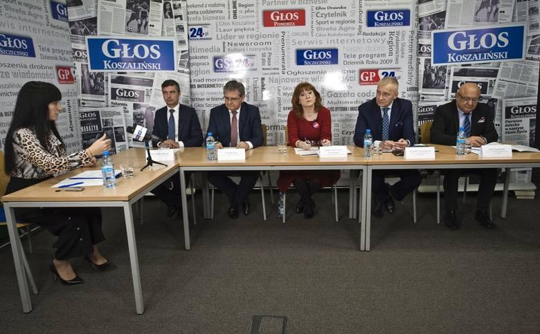 Debata wyborcza Głosu Koszalińskiego.  ZOBACZ WIDEO