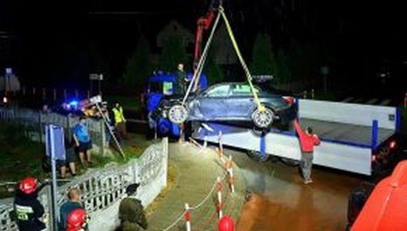 Wypadek na skrzyżowaniu dróg w Rzeczniowie.
