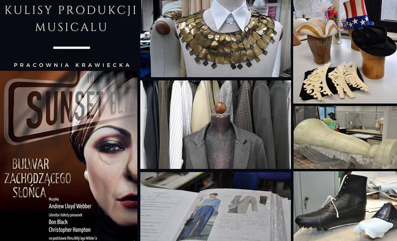 """Kostiumy i inne elementy stroju, obuwie oraz dekoracje do """"Sunset Boulevard"""" w pracowniach Opery Nova zaczęły powstawać w kwietniu br."""