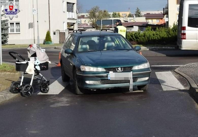 Wypadek w Janowie Lubelskim. Kobieta z dwójką dzieci została potrącona na przejściu dla pieszych