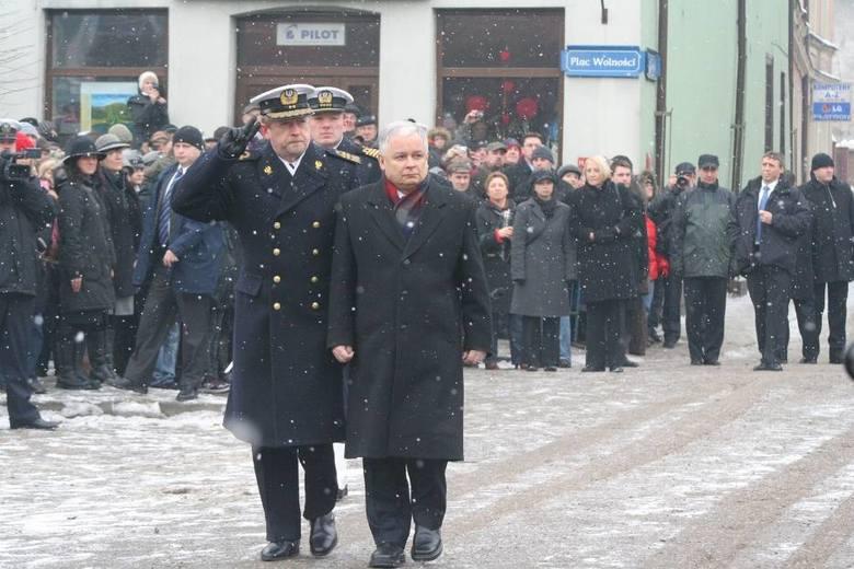 90-lecie zaślubin Polski z morzem - prezydent Lech Kaczyński w Pucku