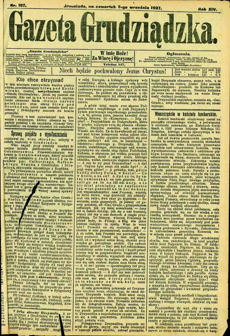 Biskup, na którego w niedzielę spadły pioruny. O tym przeczytalibyśmy w gazecie z 1894 roku