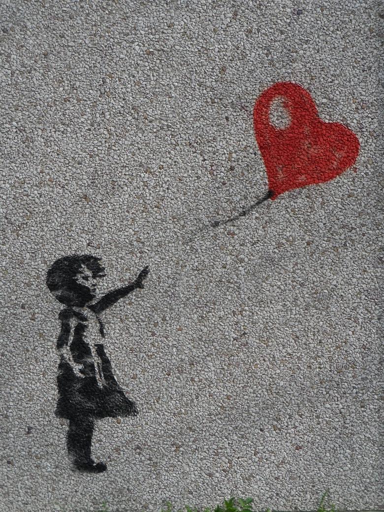 Dziewczynka z Balonikiem, praca Banksy'ego.