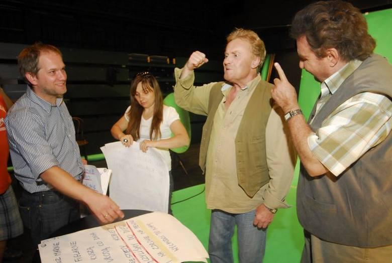 Olbrychski i Krawczyk nagrywają teledysk w Opolu.