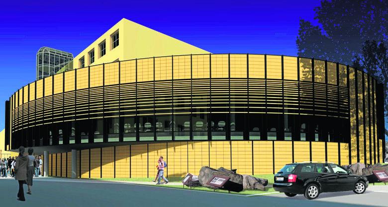 W ostatnim przetargu na budowę auli oferentów obowiązywał projekt z 2010 roku autorstwa firmy Archidea Królikowski Wichliński - Architekci Spółka Pa