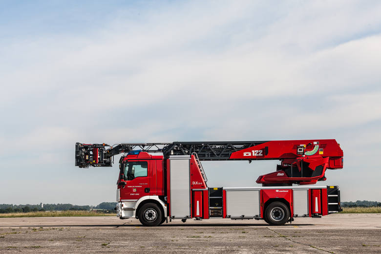 Podobny pojazd marki Rosenbauer już wkrótce otrzymają zielonogórscy strażacy