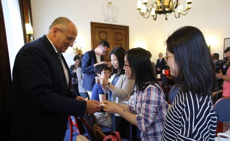 Chińscy dziennikarze w Łodzi [zdjęcia]