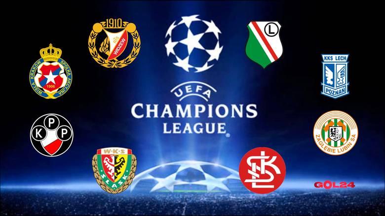 O awans do Ligi Mistrzów od sezonu 1992/1993 walczyło osiem polskich drużyn, tylko dwie z powodzeniem. Najwięcej razy w eliminacjach Champions League