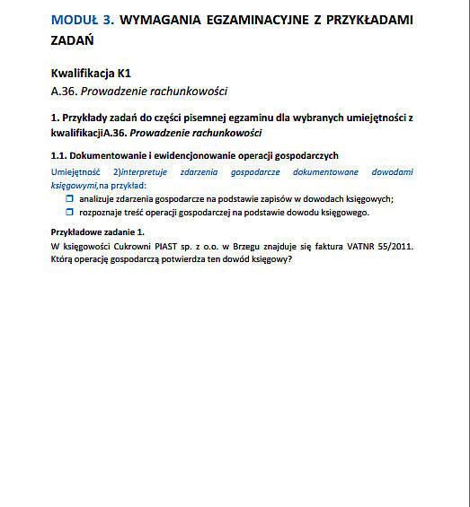 Nowy Egzamin Zawodowy 2014 Technik Rachunkowości Arkusze Pytania