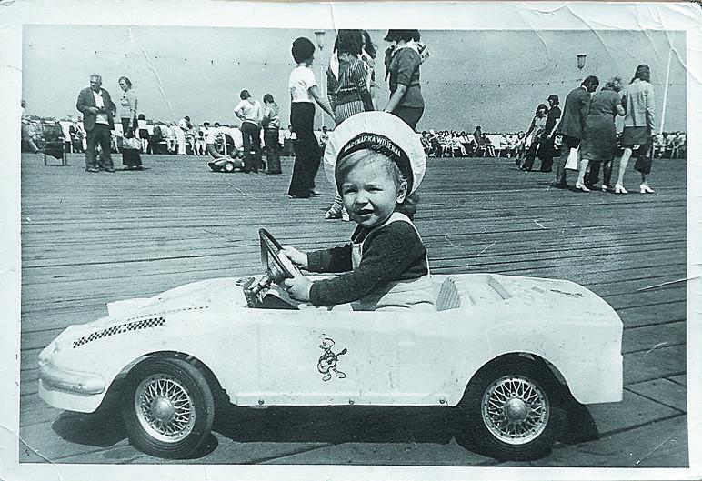 Ireneusz Dunajski na sopockim molu, rok 1975