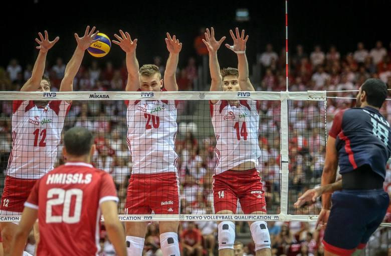 09.08.2019 gdansk.  hala ergo arena.  kwalifikacje olimpijskie tokio 2020. fivb volleyball men's iqqt 2019 gdansk - mecz grupy d polska - tunezja. nz.