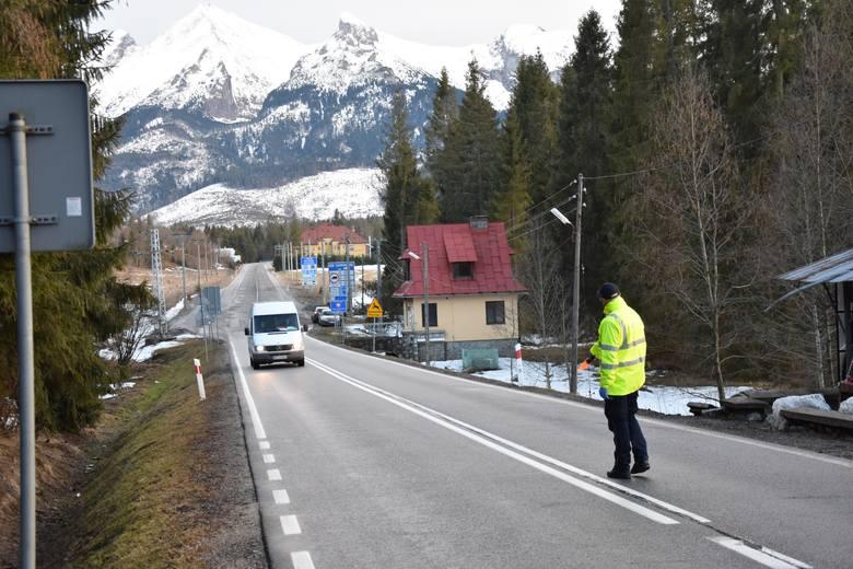 Kontrole sanitarne na granicy w Jurgowie (PL-SK) 11.03.2020