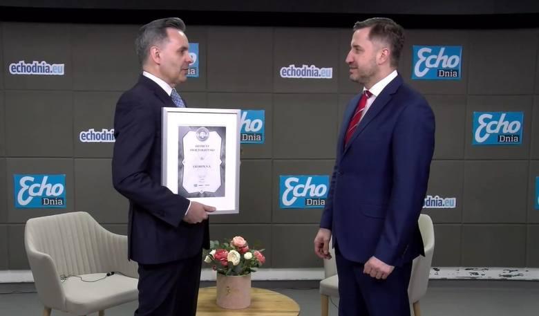 """Lider Regionu 2019  w kategorii """"Energetyka"""" oraz Diament Świętokrzyski - spółka Ekobox [WIDEO]"""