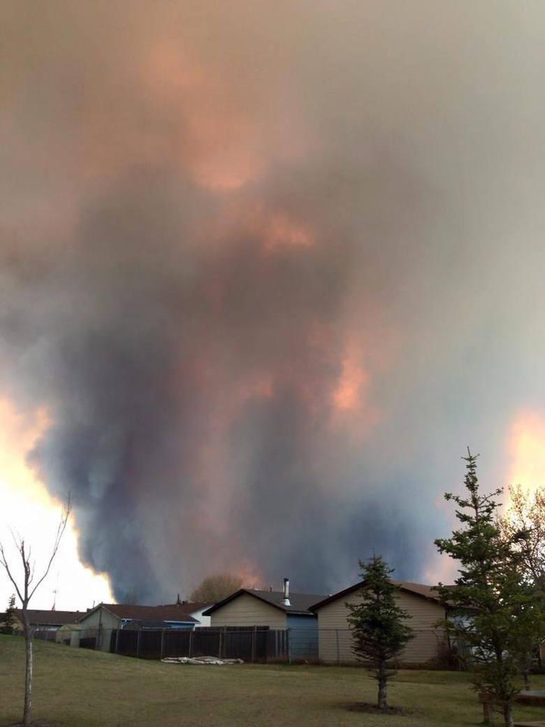 Pożar w prowincji Alberta w Kanadzie