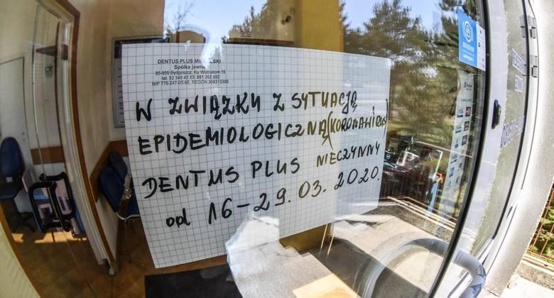 Dentus Plus przy ul. Wojska Polskiego także jest nieczynny.