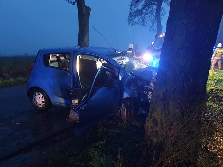 Jak informują strażacy do wypadku doszło dzisiaj po godzinie 5 nad ranem w miejscowości Bągart w gminie Kijewo Królewskie w powiecie chełmińskim. Auto