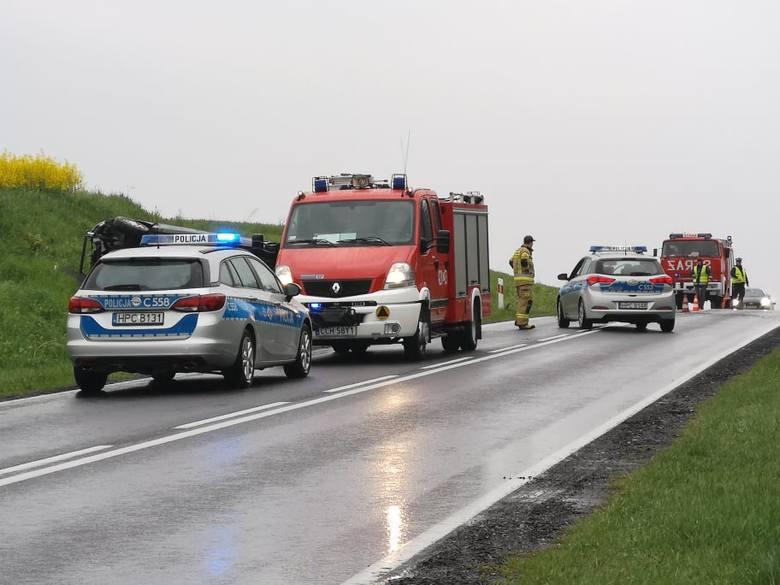 Śmiertelny wypadek w miejscowości Wabcz. Jedna osoba nie żyje! [zdjęcia]