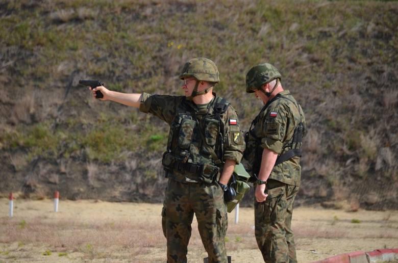 ćwiczenie celności, strzelnica, 34. Brygada Kawalerii Pancernej