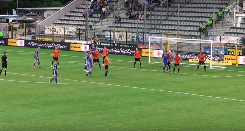 Fortuna 1 Liga. Skrót meczu Miedź Legnica - Chrobry Głogów 2:1 [WIDEO]