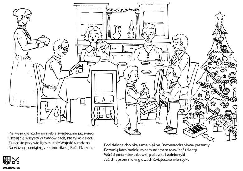 Komiks- kolorowanka o Janie Pawle II przeznaczona jest dla dzieci ale może być też pamiątką z Wadowic