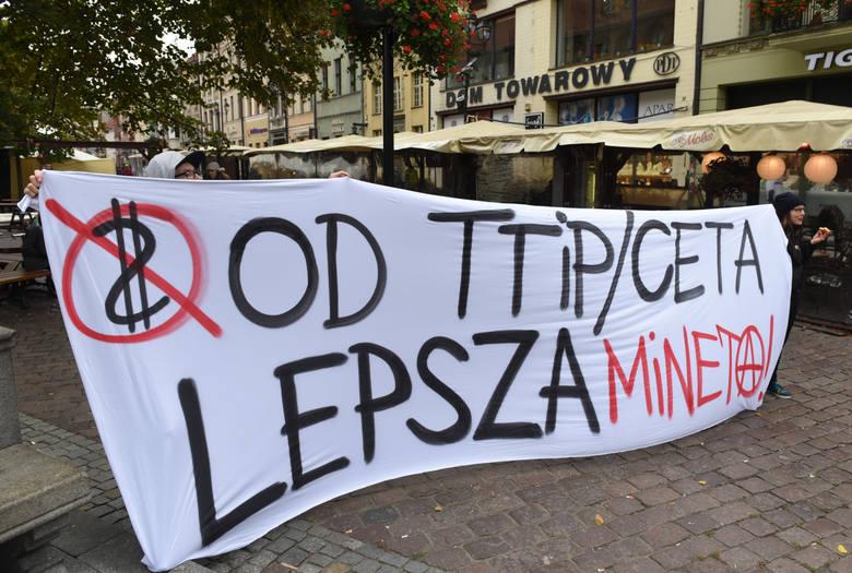 Protest w Toruniu.