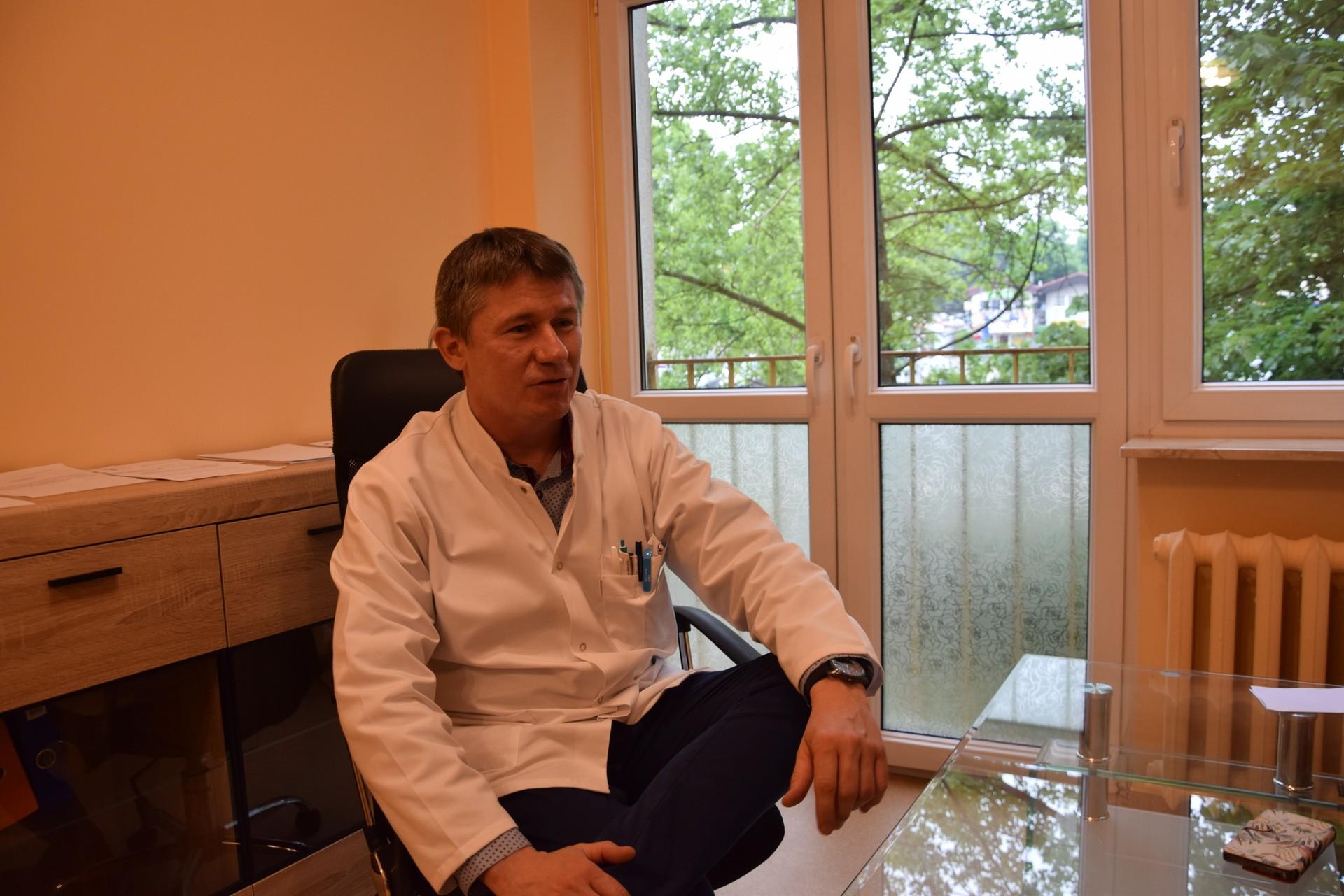 Dr n. med. Marek Szwiec, kierownik oddziału onkologii Szpitala Uniwersyteckiego w Zielonej Górze