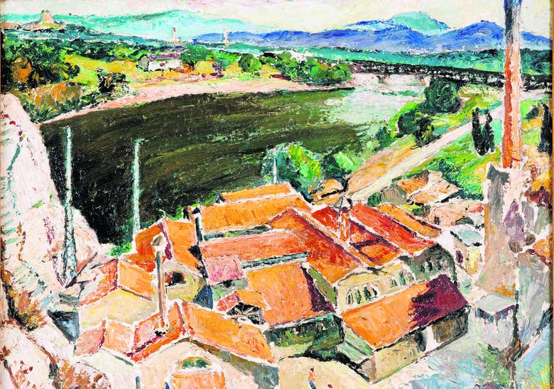 Mela Muter, Pejzaż z południa Francji, 1926, olej na płótnie