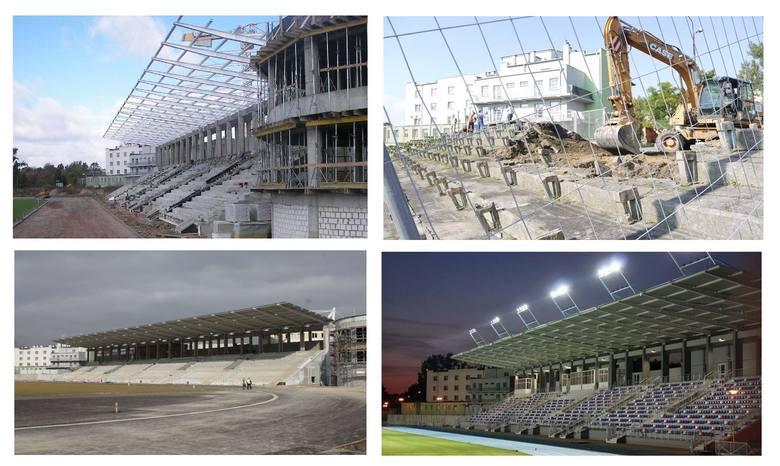 W tym roku mija 10 lat od kiedy wbito pierwsza symboliczną łopatę i rozpoczęto budowę stadionu piłkarsko - lekkoatletycznego. We wrześniu 2010, MOSIR