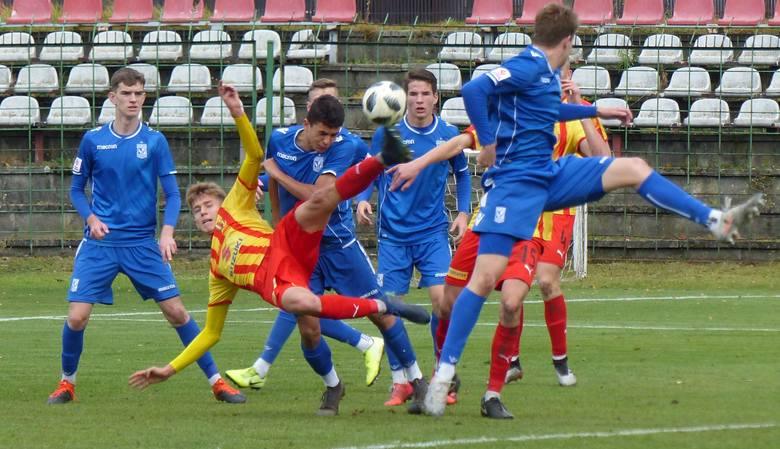 Piłkarze Korony Kielce wygrali z Lechem Poznań 2:1 w meczu Centralnej Ligi Juniorów do 18 lat. Zwycięską bramkę dla Korony w 92 minucie, po stałym fragmencie