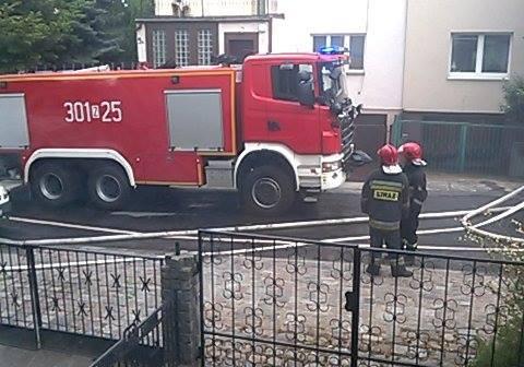 Pożar na prawobrzeżu w Szczecinie. Pali się pustostan