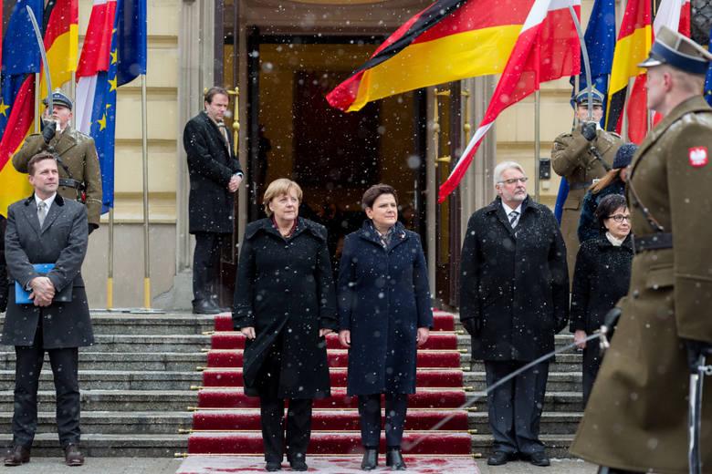 Angela Merkel w Polsce: Rozmowy z Szydło, Dudą i Kaczyńskim, i kolacja w Łazienkach [ZDJĘCIA]