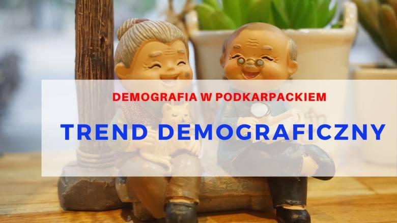 TREND DEMOGRAFICZNYW województwie podkarpackim podobnie jak i w Polsce, z roku na rok maleje liczba osób w wieku przedprodukcyjnym i produkcyjnym, rośnie