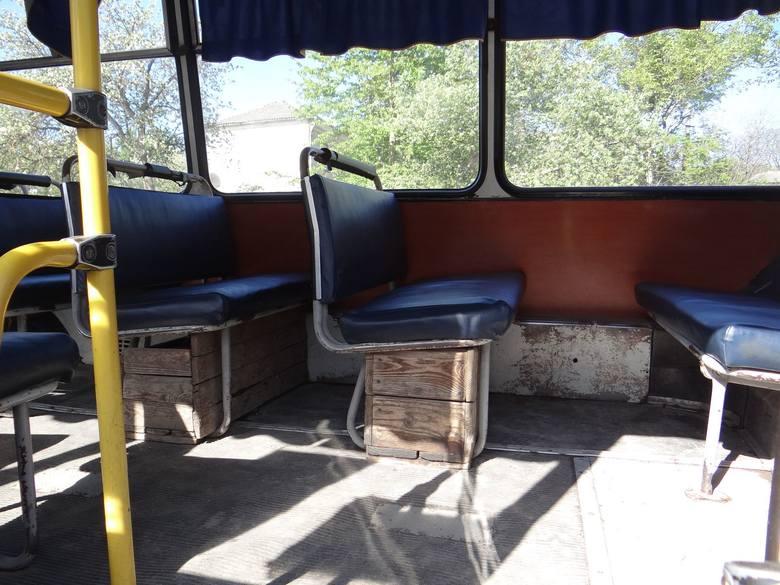 Jeden z ukraińskich autobusów...