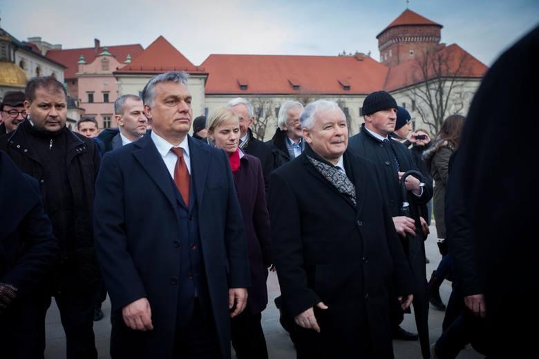 Viktor Orban i Jarosław Kaczyński w Krakowie
