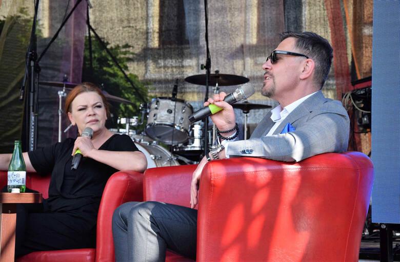 """Podczas wtorkowej (8 czerwca) """"Kawki z Gwiazdami"""", w ramach Ino Pop Festiwal, inowrocławianie mieli okazję poznać bliżej Krzysztofa"""