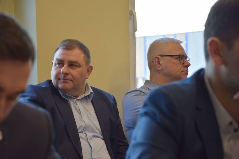 Sesja rady powiatu nowosolskiego, 22 lutego 2019 r.<br /> Grzegorz Potęga, radny województwa