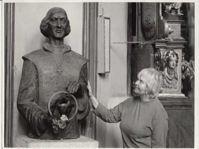 Pani Nina w Katedrze we Fromborku, rok 1982