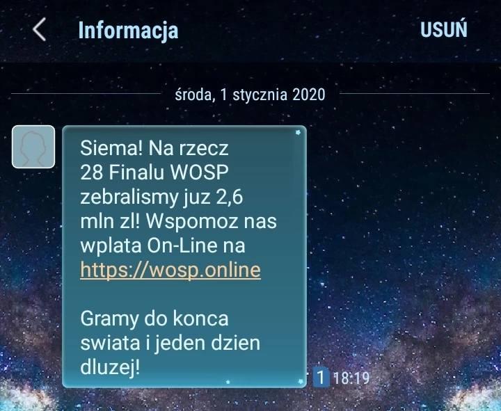 Uwaga Polacy! Oszuści podszywają się w SMS-ach i e-mailach pod WOŚP