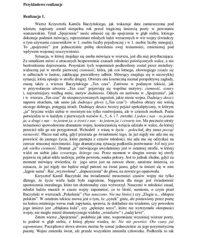 Próbna Matura 2015 Z Cke Pan Tadeusz I Wiersz