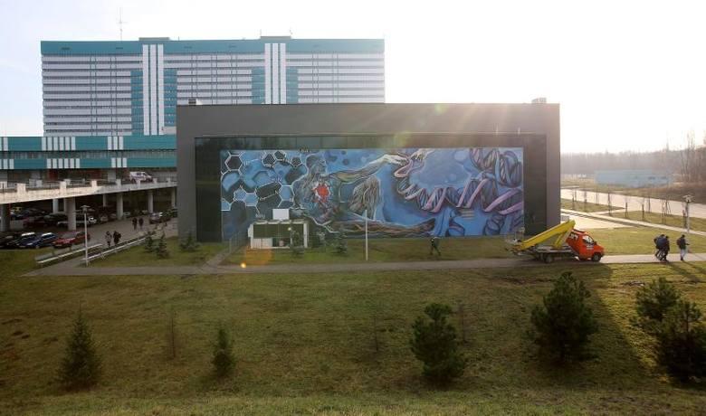 Projekt malunku powstał w porozumieniu z władzami uczelni.