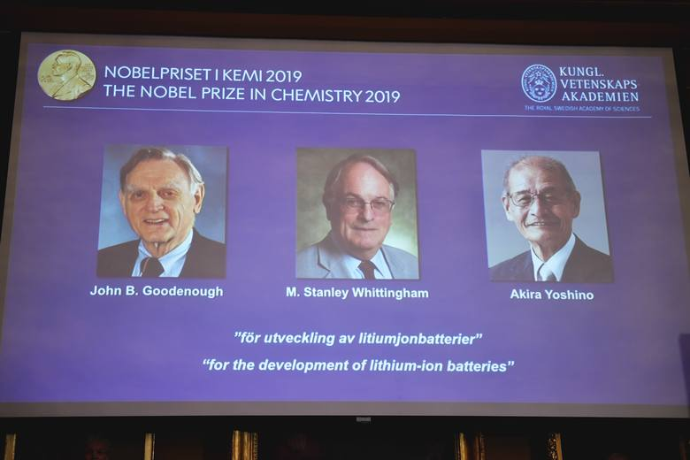 Nobel z chemii 2019: John B. Goodenough, M. Stanley Whittingham i Akira Yoshino nagrodzeni za prace nad rozwojem baterii litowo-jonowych