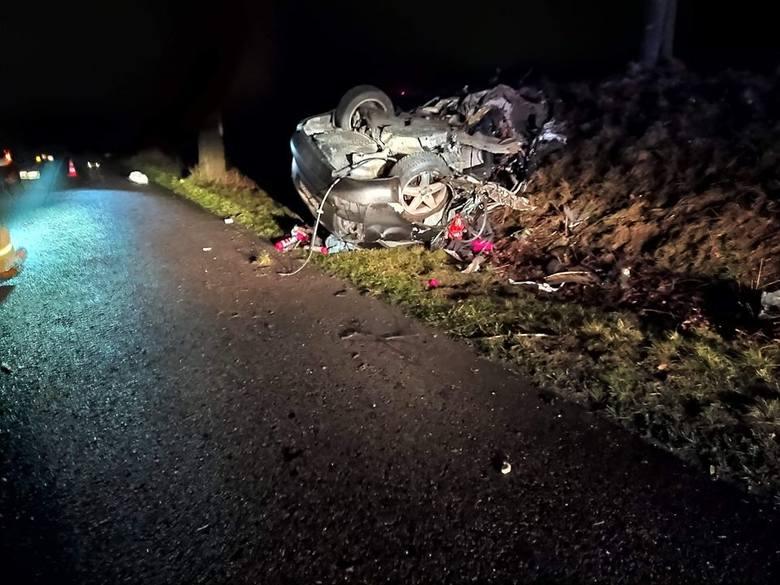 śmiertelny wypadek Słowin - Starczewo, nie żyje młody mężczyzna