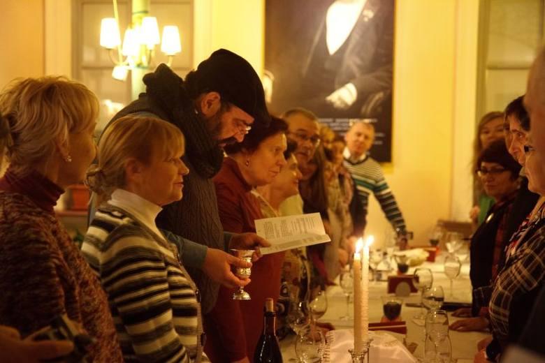 Szabas w Cafe Esperanto. Żydzi z Kaliningradu spotkali się w białostoczanami (zdjęcia)