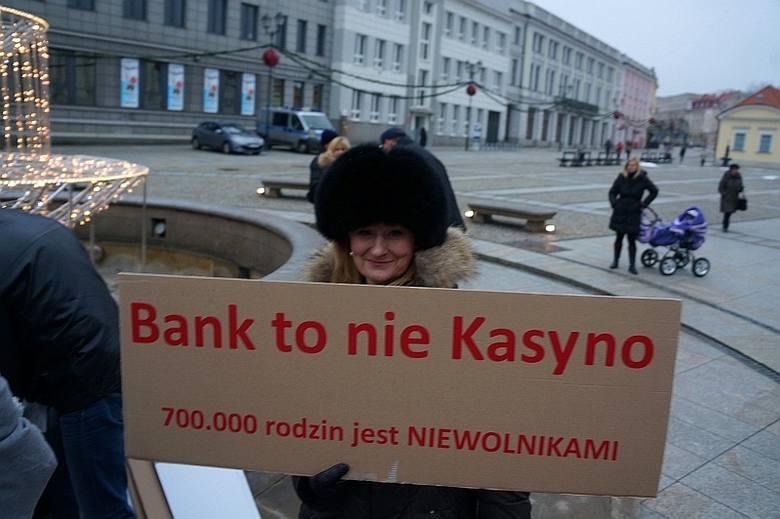 Rynek Kościuszki. Protest frankowiczów (zdjęcia, wideo)